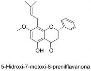 5-Hidroxi-7-metoxi-8-prenilflavanona