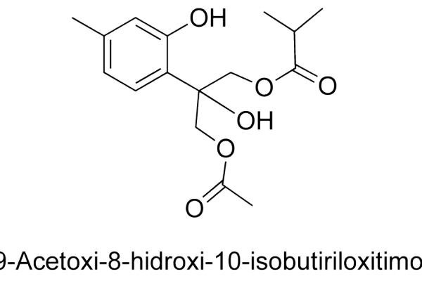 9-Acetoxi-8-hidroxi-10-isobutiriloxitimol