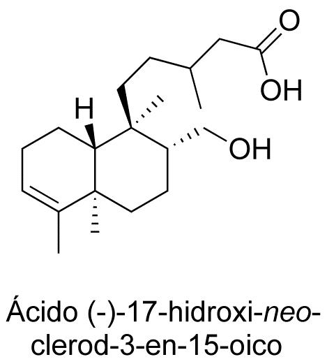 Ácido (-)-17-hidroxi-neo-clerod-3-en-15-oico