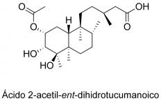 Ácido 2-acetil-ent-dihidrotucumanoico