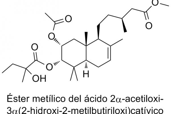 Éster metílico del ácido 2α-acetoxi-3α(2-hidroxi-2-metil-butiriloxi)catívico
