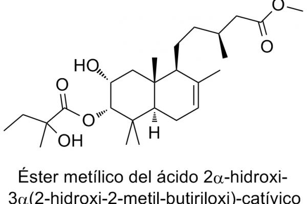Éster metílico del ácido 2α-hidroxi-3α(2-hidroxi-2-metil-butiriloxi)catívico