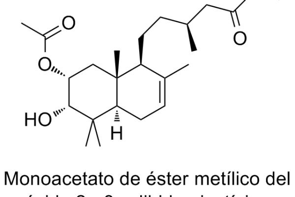Monoacetato de éster metílico del ácido 2α