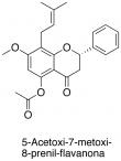 5-Acetoxi-7-metoxi-8-prenil-flavanona