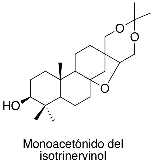 Monoacetónido de isotrinervinol