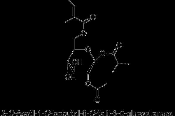 2-O-Acetil-1-O-isobutiril-6-O-tiglil-β-D-glucopiranosa