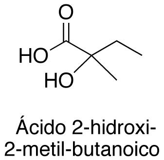 Ácido 2-hidroxi-2-metil-butanoico
