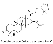 Acetato de acetónido de argentatina C