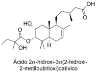 Ácido 2α-hidroxi-3α(2-hidroxi-2-metilbutiriloxi)catívico